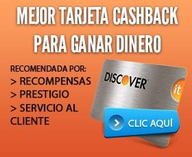 Mejor tarjeta cashback para ganar dinero discover