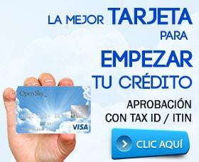 Tarjeta de crédito cashback opensky