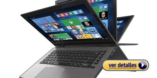 Mejor laptop 2 en 1 barata toshiba radius 14