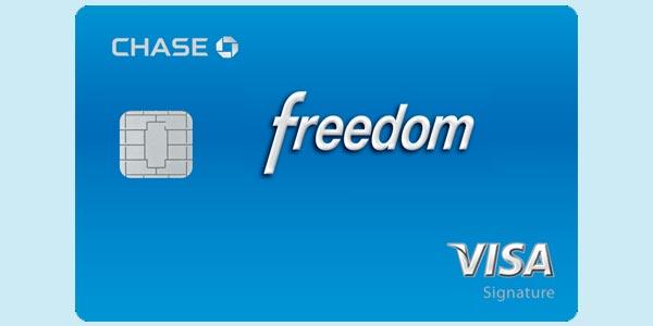 Recompensas de la tarjeta de credito chase freedom