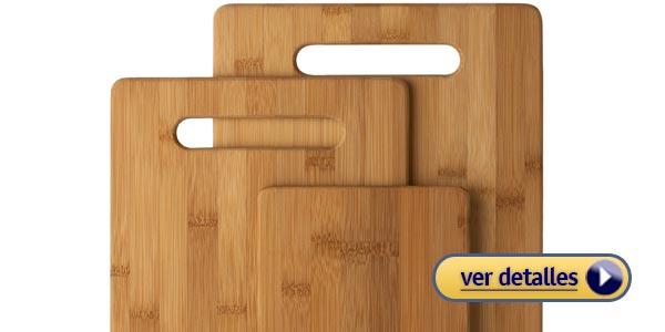 Regalos de navidad baratos para un chef tablas de cortar de bambu