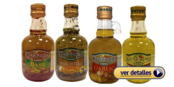 Regalos de navidad para amantes de la cocina set de aceites gourmet
