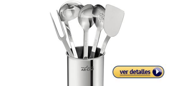 Regalos de navidad para personas que les gusta cocinar utensilios de cocina de acero inoxidable o de cobre