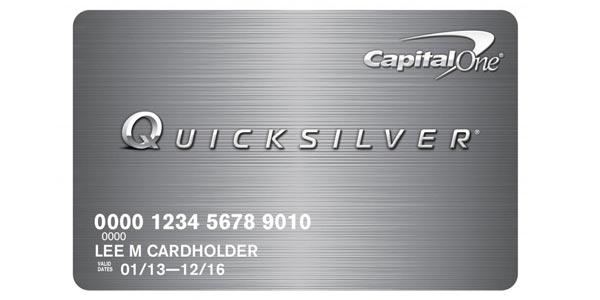 Tarjetas de crédito sin comisiones en el extranjero: Capital One QuicksilverOne