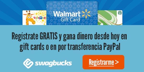 ganar dinero swagbucks gift cards tarjetas de regalo