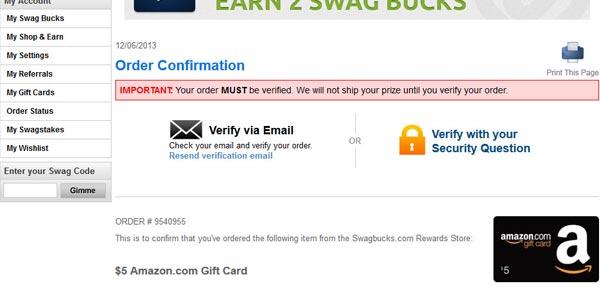 Verificar email swagbucks redeem