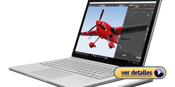Mejores laptops 2 en 1 microsoft surface book portatil