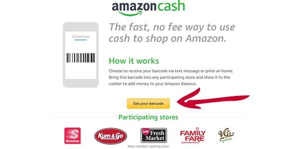 Amazon cash pagar con dinero en efectivo en amazon