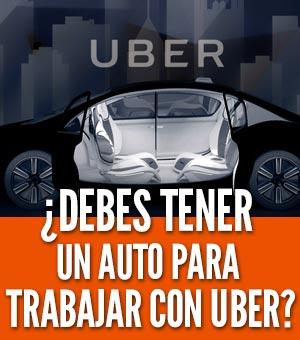 Trabajar en uber sin auto propio