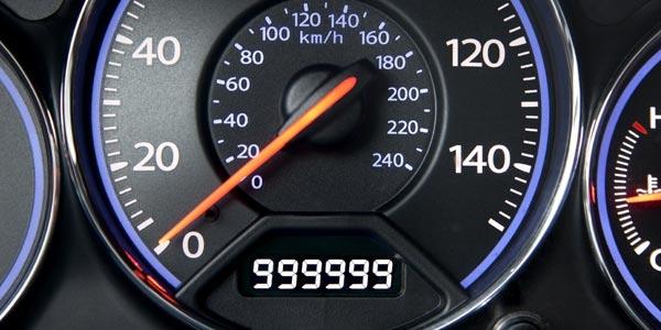 Información en el historial de vehículo: Odómetro y kilometraje