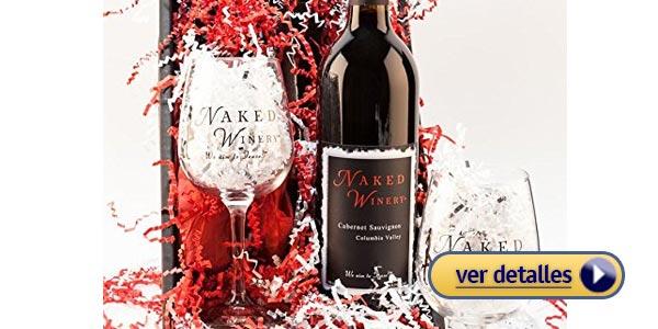 Regalos del dia de san valentin de ultima hora botella de vino
