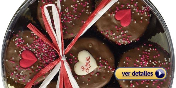 Regalos del dia de san valentin de ultima hora galletas oreo banadas en chocolate