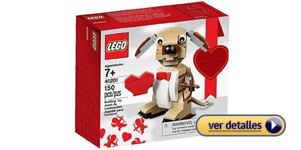 Regalos del dia de san valentin de ultima hora perro cupido de lego