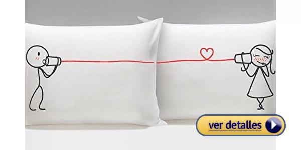 Regalos del dia de san valentin de ultima horafundas de almohadas romanticas
