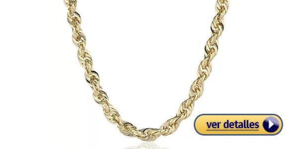 Regalos del dia de san valentin para el cadena de oro