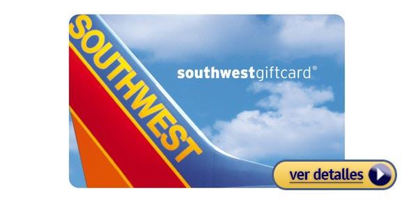 Regalos del dia de san valentin para el tarjeta de regalo de southwest airlines