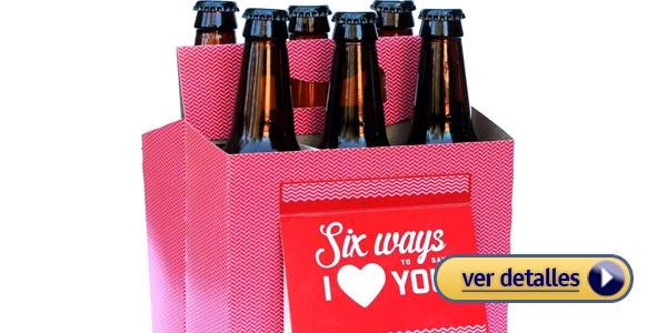 Regalos originales del dia de san valentin para el caja de cerveza personalizada