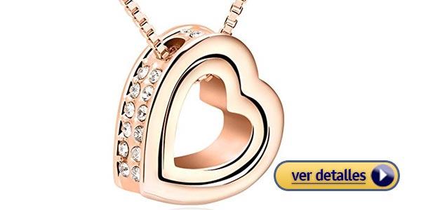 ideas de regalos para mujeres de San Valentín collar en oro rosa