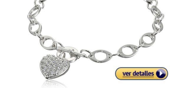 Regalos para mujeres de san valentin pulsera de plata esterlina