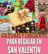 golosinas para regalar el Día de San Valentín chocolates