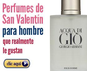 Perfumes de hombre para regalar en san valentín colonia día de los enamorados