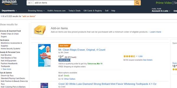 Cómo ahorrar dinero con artículos Add-on items Amazon
