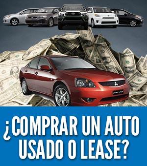 Comprar un auto usado o lease