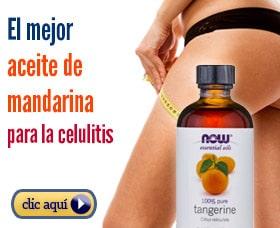 Aceite de mandarina para eliminar la celulitis rápidamente