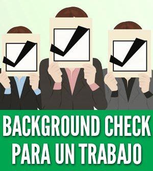 Background check para un trabajo