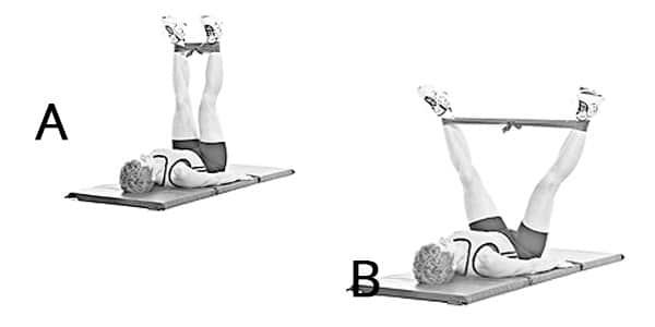 Ejercicios para la celulitis estiramiento de piernas (forma de v)