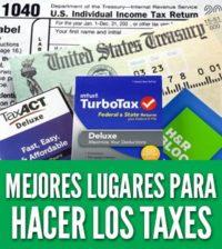 Mejores lugares para hacer los taxes