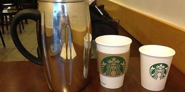 Pagar la mitad por un café al ordenar un Frech press