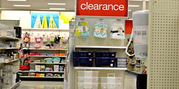 Al visitar target busca las secciones clearance