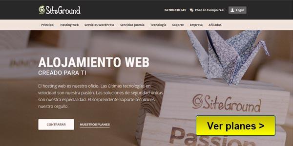 SiteGround Mejor hosting en espanol