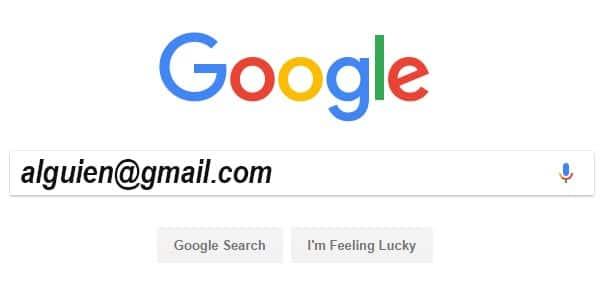 Usa google para buscar la informacion de la persona