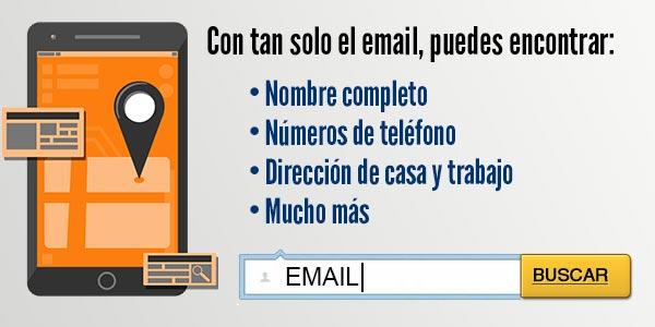 Encontrar a alguien con su email o correo electronico antecedentes