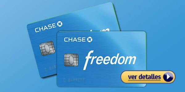 Mejor tarjeta de crédito con cashback: Chase Freedom