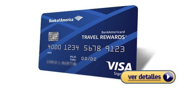 Mejores tarjetas de crédito para viajes Bank of America Travel Rewards
