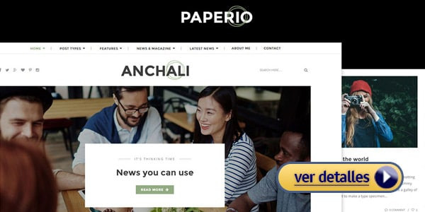 Paperio tema wordpress creativo responsive