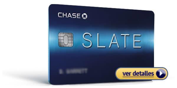 Tarjetas de credito con bajo interes Chase Slate