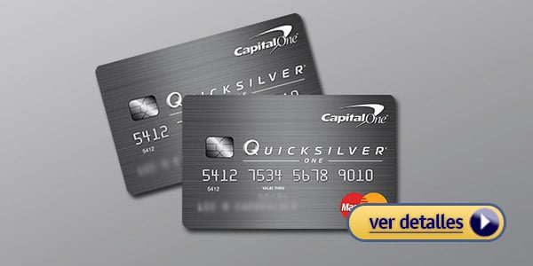 Tarjetas para abrir credito Capital One QuicksilverOne