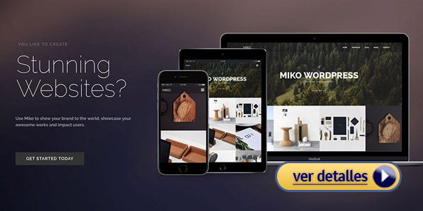 Tema wordpress para una app miko