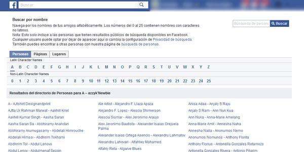 encontrar a alguien en facebook directorio