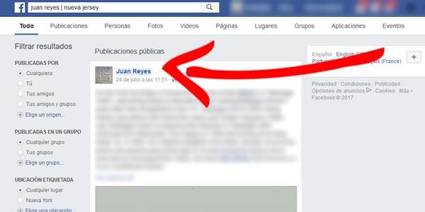 encontrar una persona en Facebook con poca información