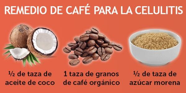 remedio de café para la celulitis