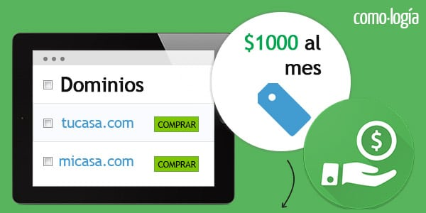 Comprar y vender dominios ganar 1000 dolares al mes