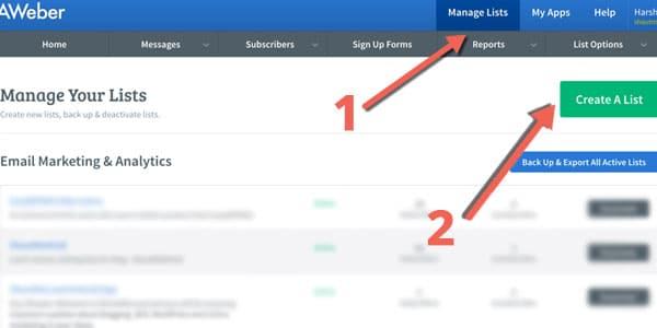 configurar email marketing aweber