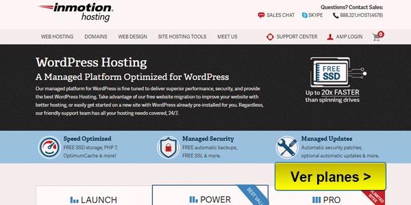 InMotion Hosting optimizado para WordPress