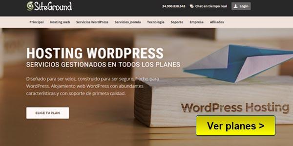 SiteGround Mejor hosting WordPress para SEO