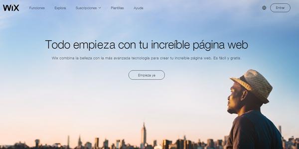 Wix com mejor hosting gratis sin publicidad
